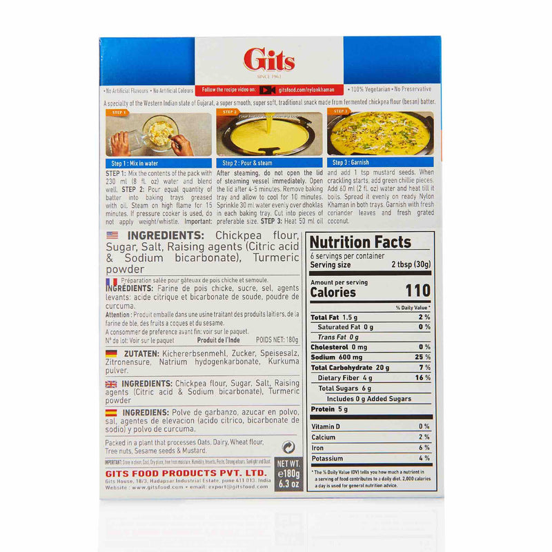 Gits Nylon Khaman Recipe - Ingredients