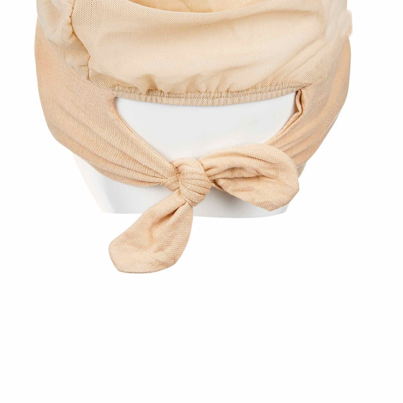 Beige Active Breathable Full Size Head Cap