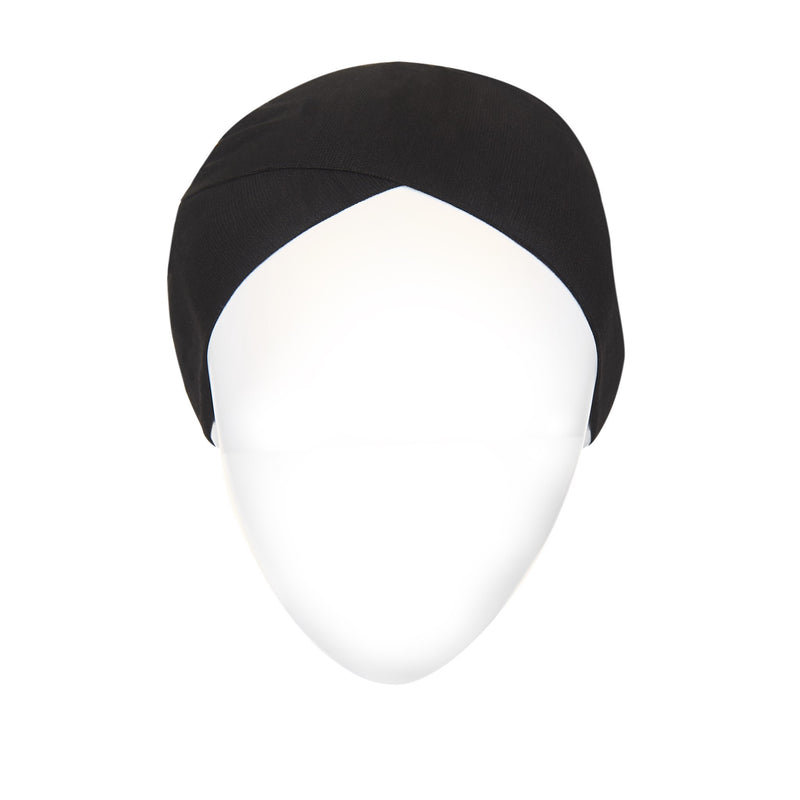 Black Active Breathable Full Size Head Cap