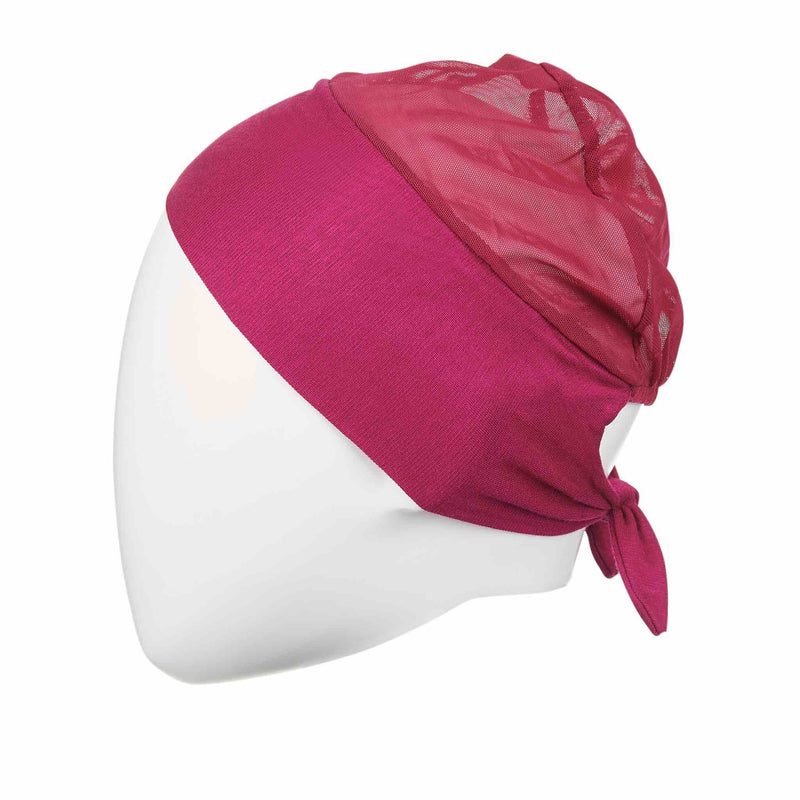 Active Breathable Hijab Head Cap in Pink - Front