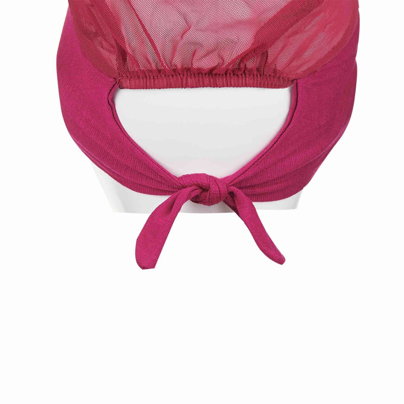 Pink Active Breathable Full Size Head Cap