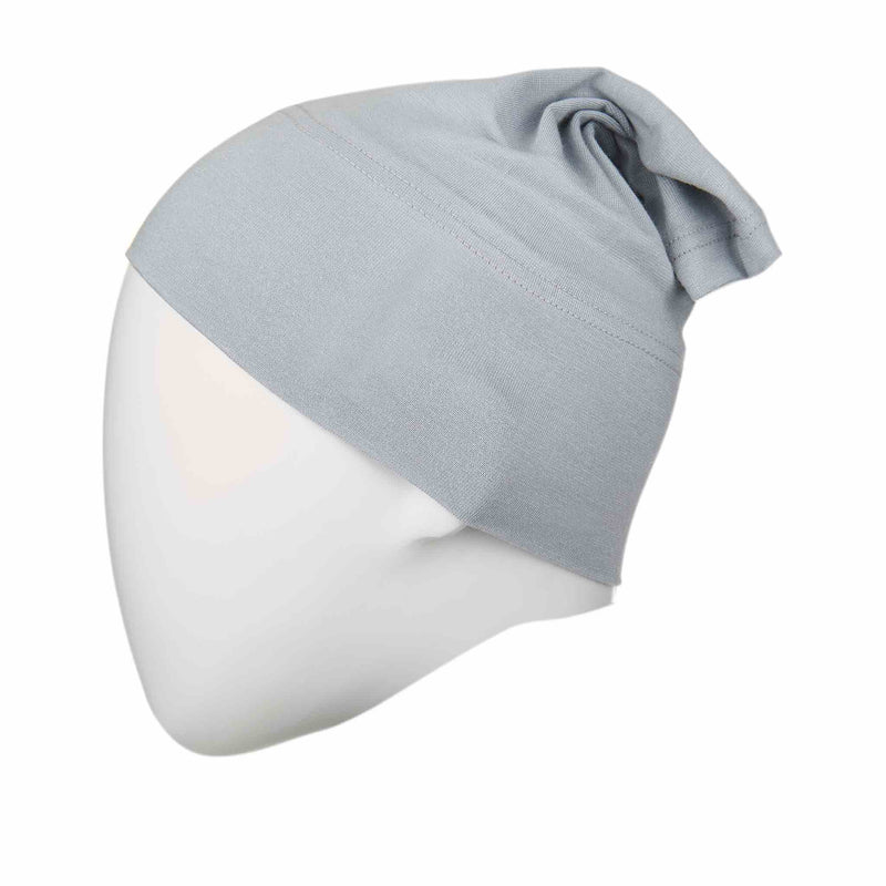 Light Steel Blue Regular Full Size Hijab Head Cap - Front