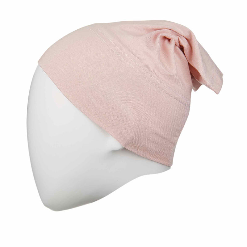 Pink Lace Regular Full Size Hijab Head Cap - Front