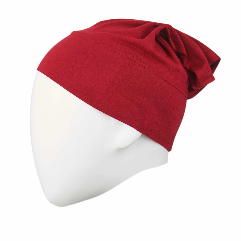 Red Regular Full Size Hijab Head Cap - Front