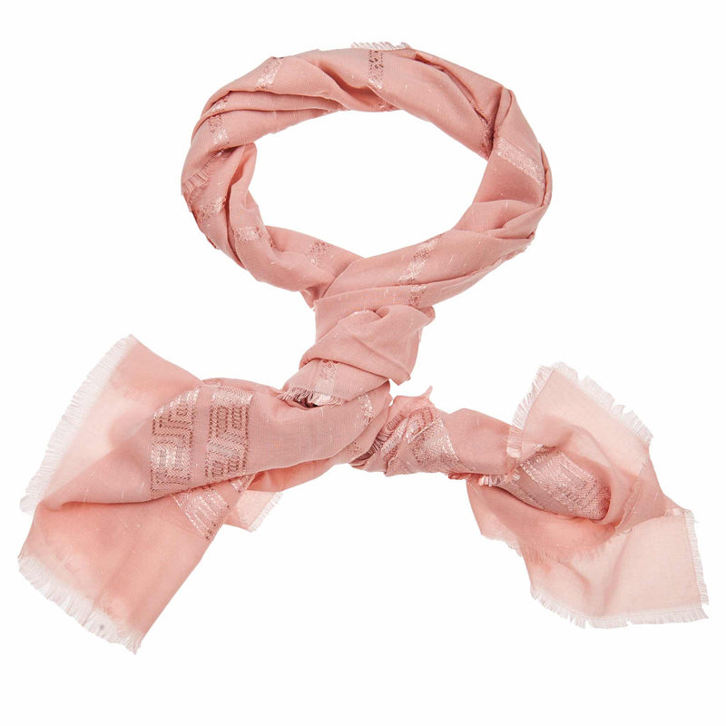 Moroccan Striped Hijab in Baby Pink