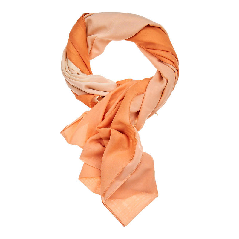 Multi Color Hijab - Orange & Beige