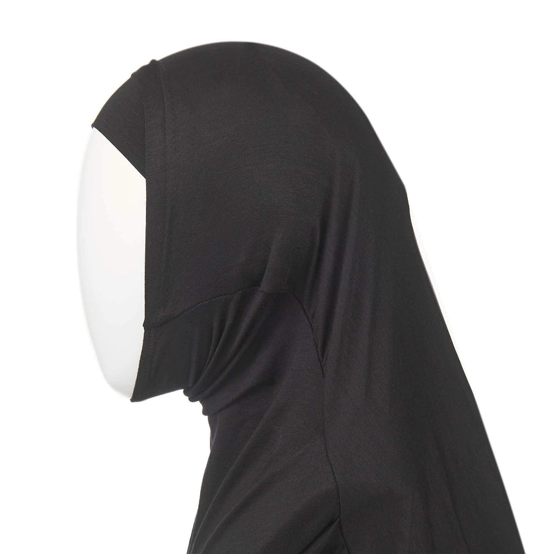 Kids Hijab in Black - Front