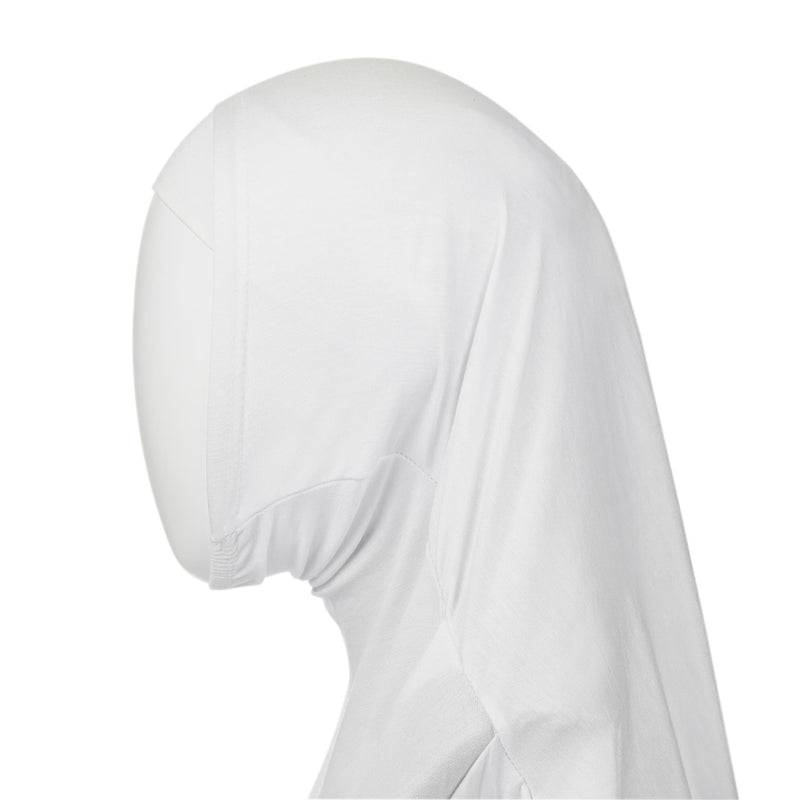 White Kids Hijab - 2 Piece