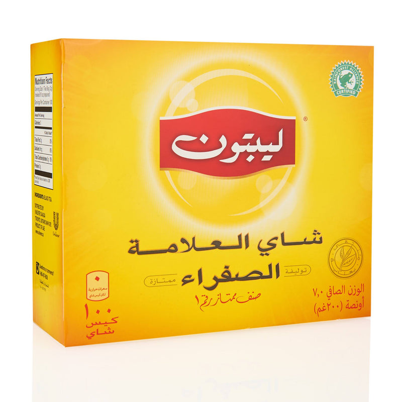 Lipton Yellow Label Tea Bags - Back