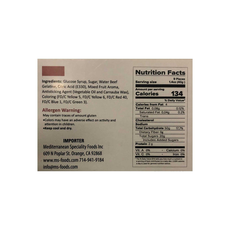 Loqhum Bears Gummies Nutrition Facts & Ingredients