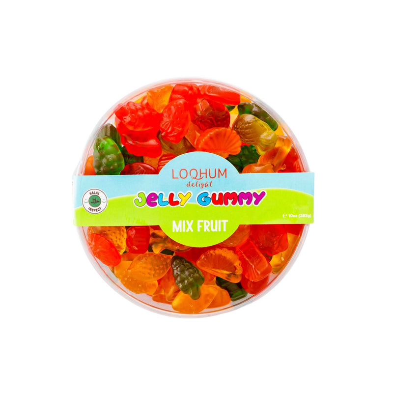 Loqhum Halal Gummies Mix Fruit Box
