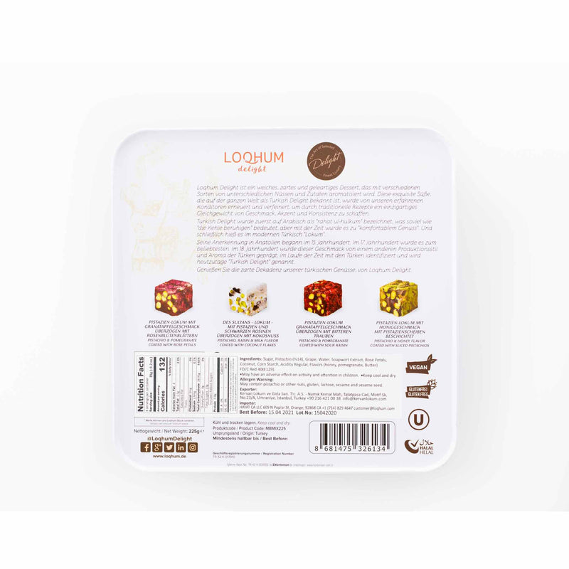 Loqhum Premium Turkish Delight - Ingredients