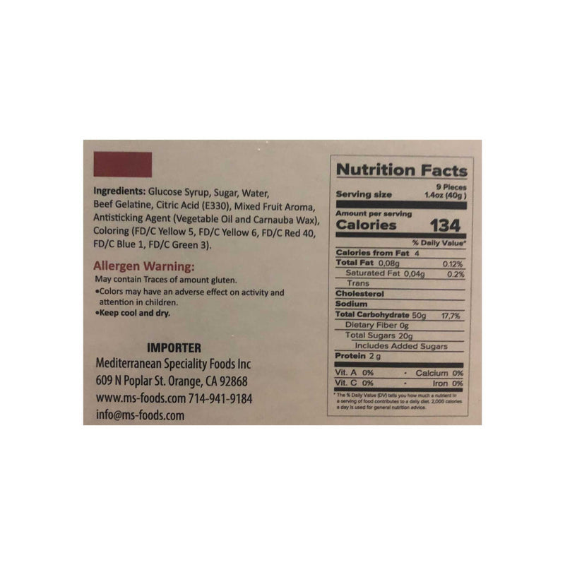 Loqhum Worms Gummies Nutrition Facts & Ingredients