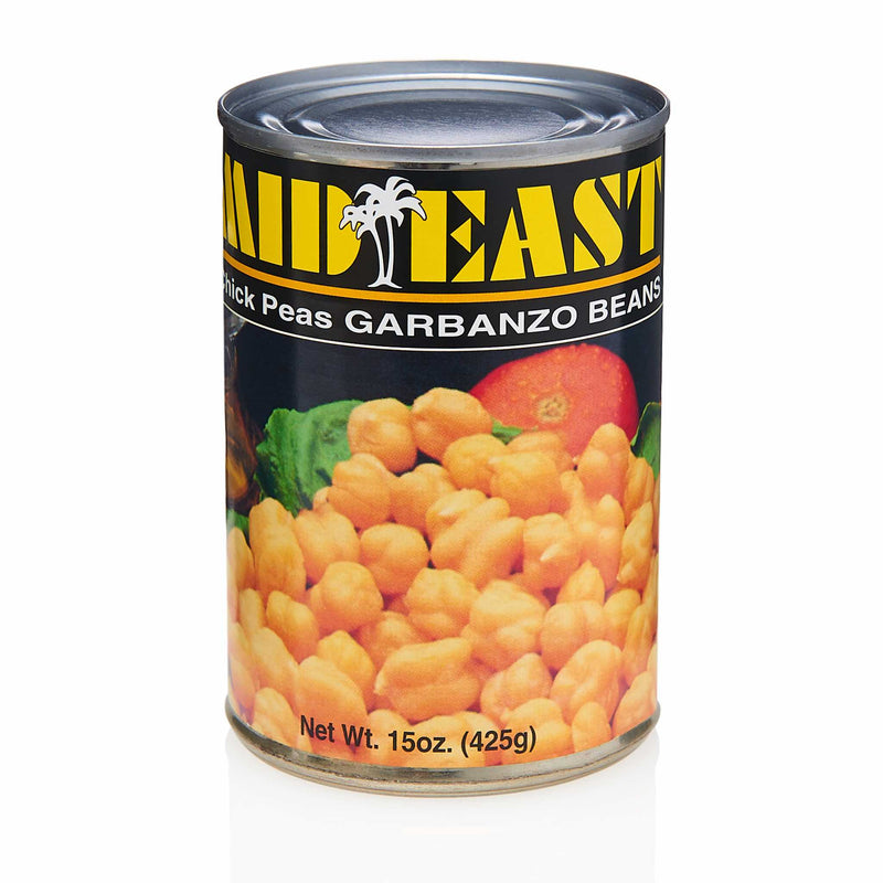 MidEast Chick Peas Garbanzo Beans Can - Front