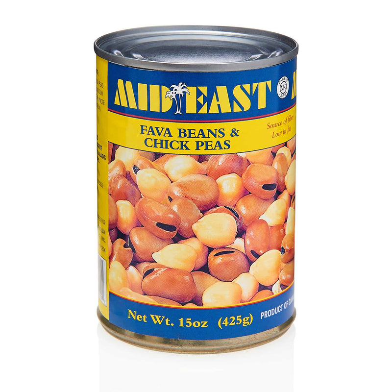 MidEast Fava Beans & Chick Peas Can - Front