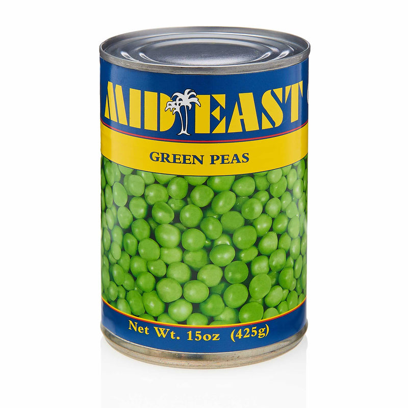 MidEast Canned Green Peas - Front