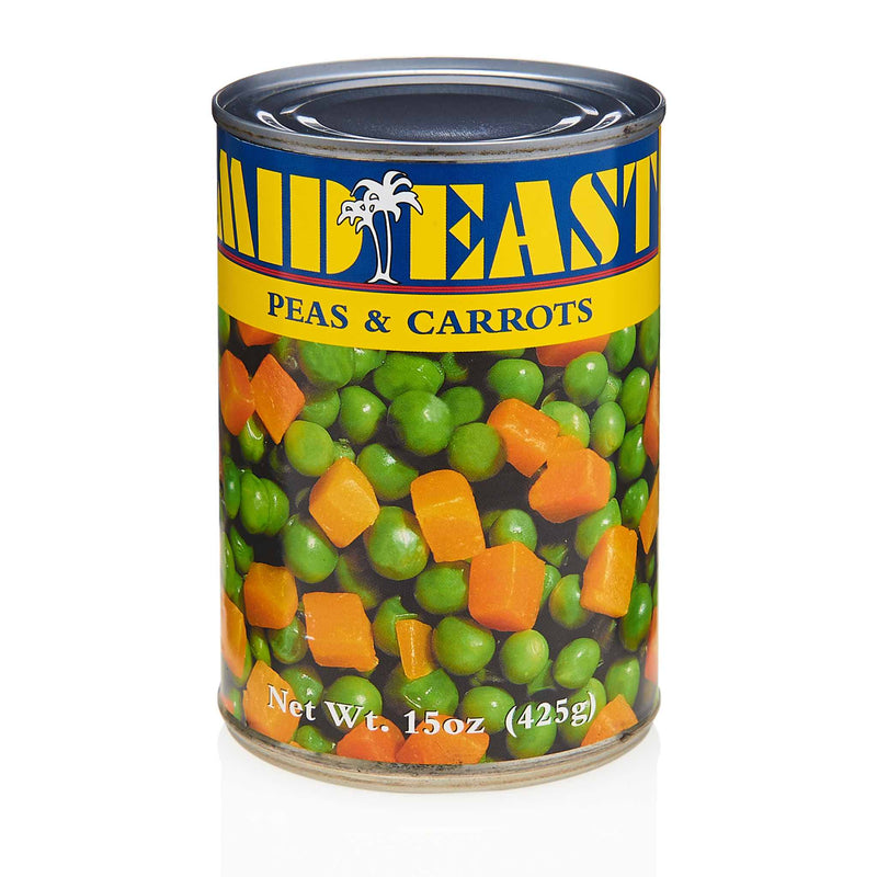 MidEast Canned Peas & Carrots - Front