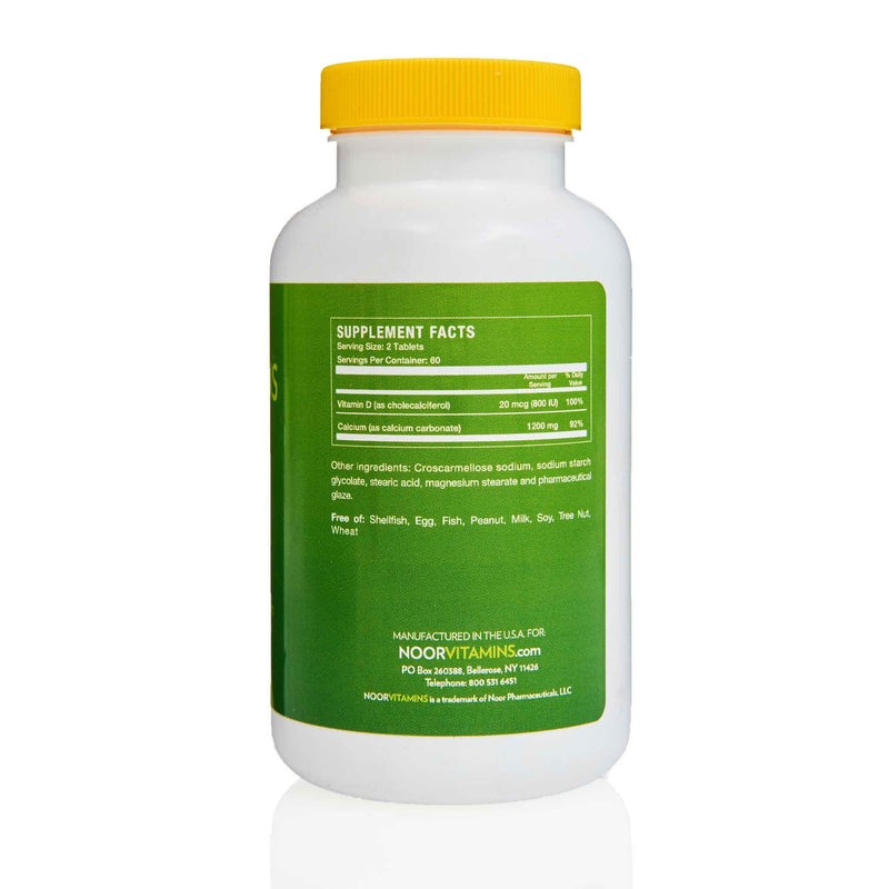 Noor Vitamins Calcium with Vitamin D - Ingredients