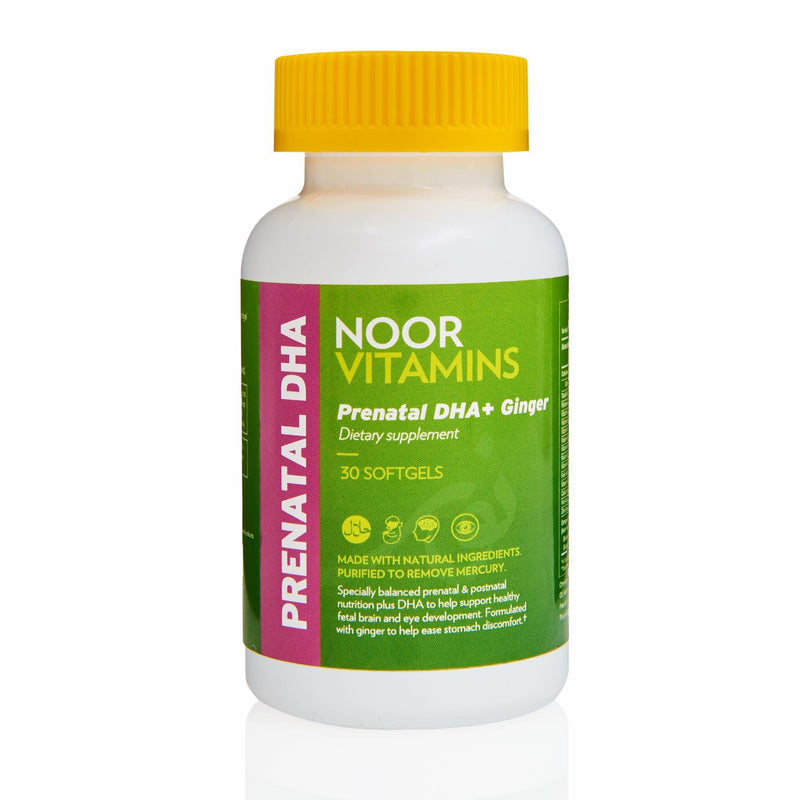 Noor Vitamins Prenatal DHA with Ginger - Front