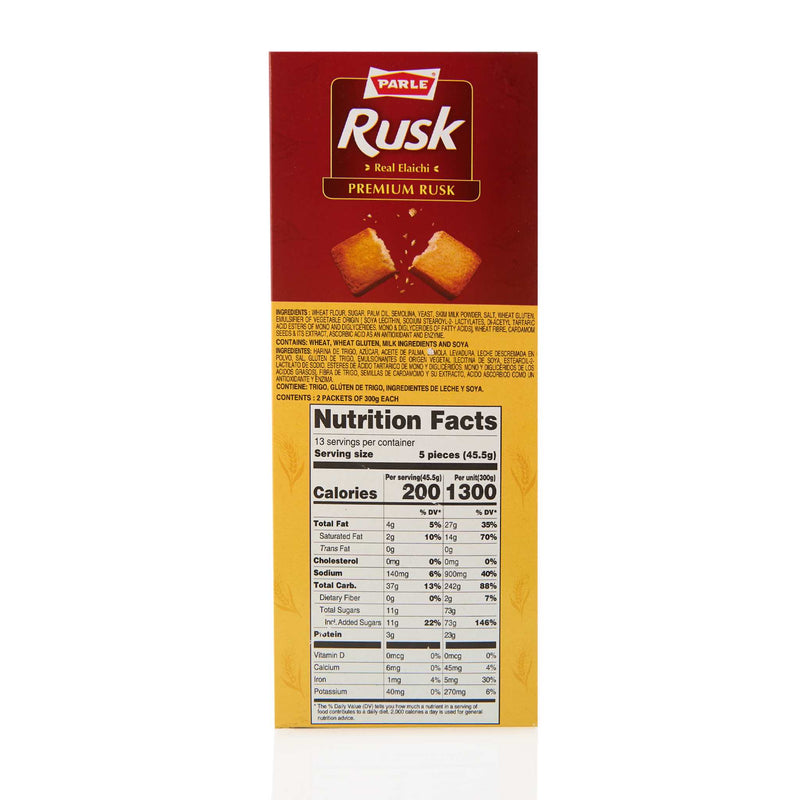 Parle Rusk Real Elaichi - Ingredients