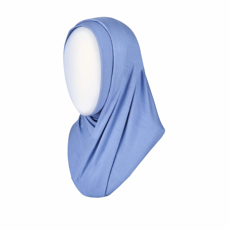 Ready to wear hijab in blue - front