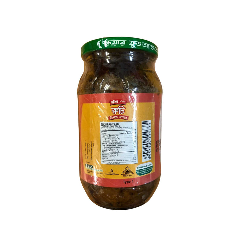 Ruchi Mixed Pickle - Nutrition