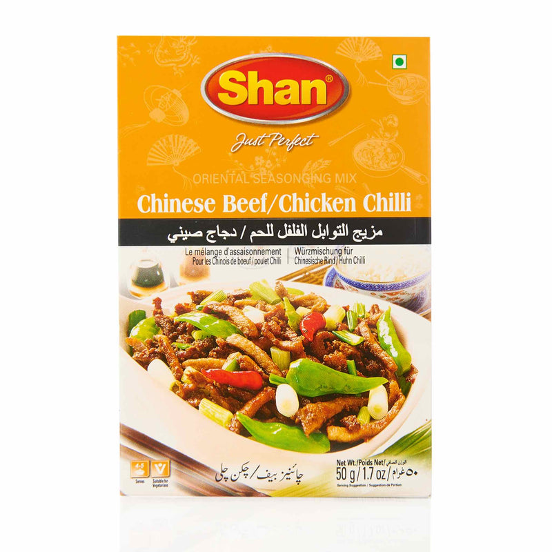 Shan Chinese Beef Chicken Chilli Recipe Mix - Front
