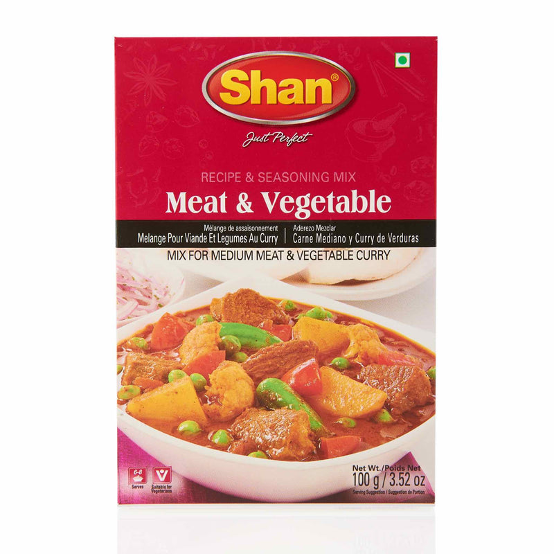 Shan Meat & Vegetable Recipe - Front