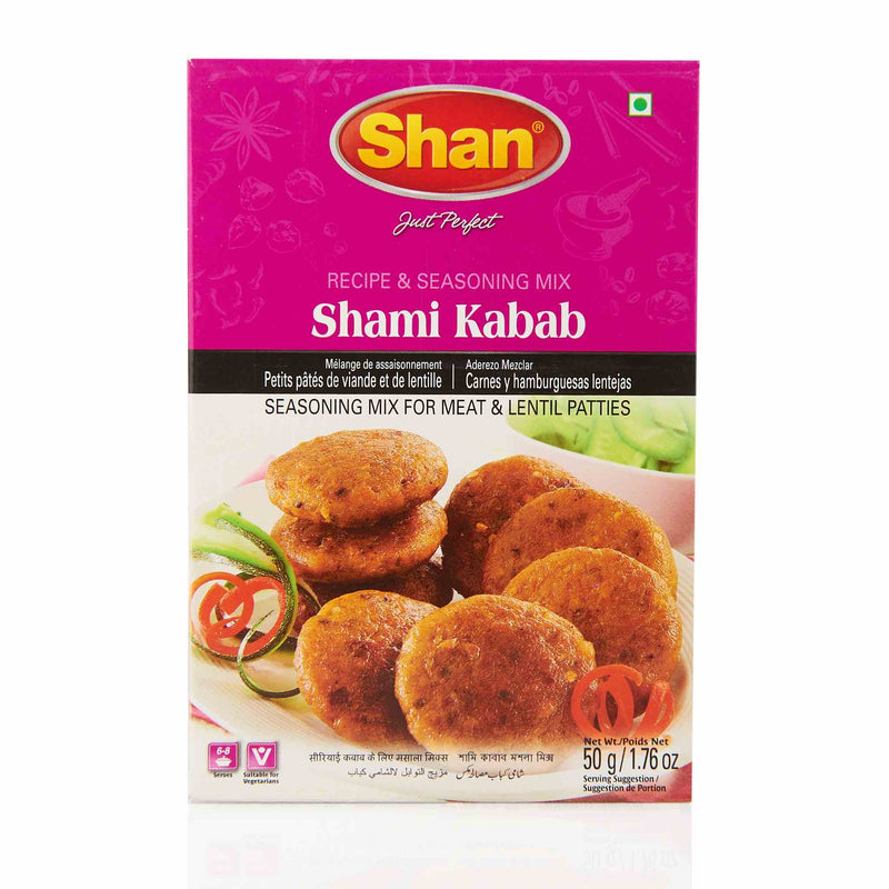 Shan Shami Kabab Recipe Mix - Front