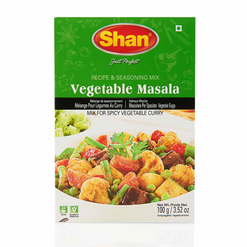 Shan Vegetable Masala Recipe Mix - Front