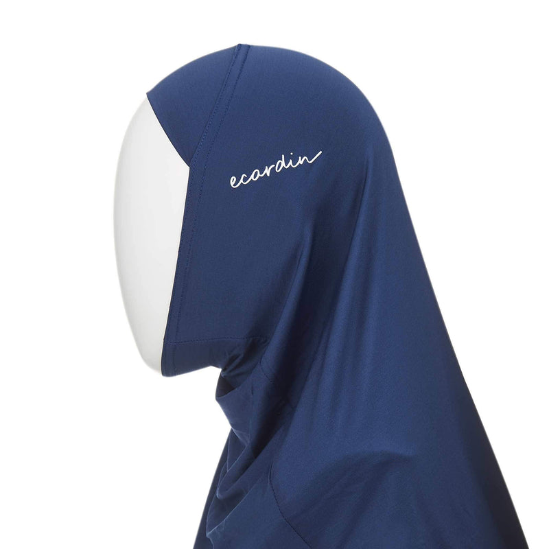 Navy Blue Sports Hijab - Front