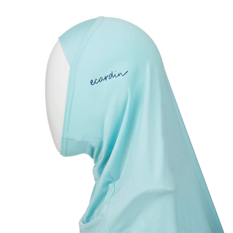 Pale Turquoise Sports Hijab - Front
