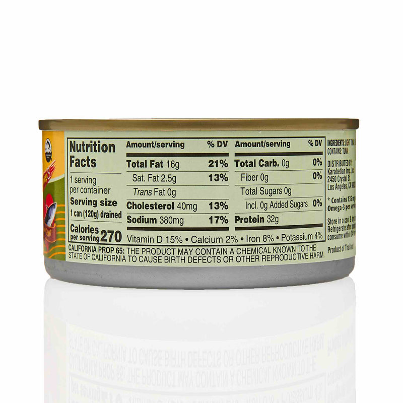 Tazah Chunk Light Tuna in Extra Virgin Olive Oil - Ingredients