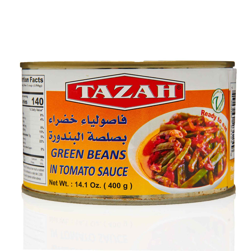Tazah Green Beans in Tomato Sauce - Front