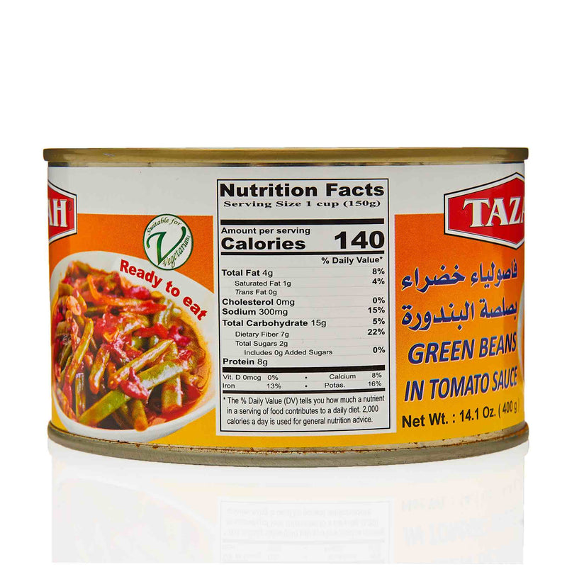 Tazah Green Beans in Tomato Sauce - Ingredients