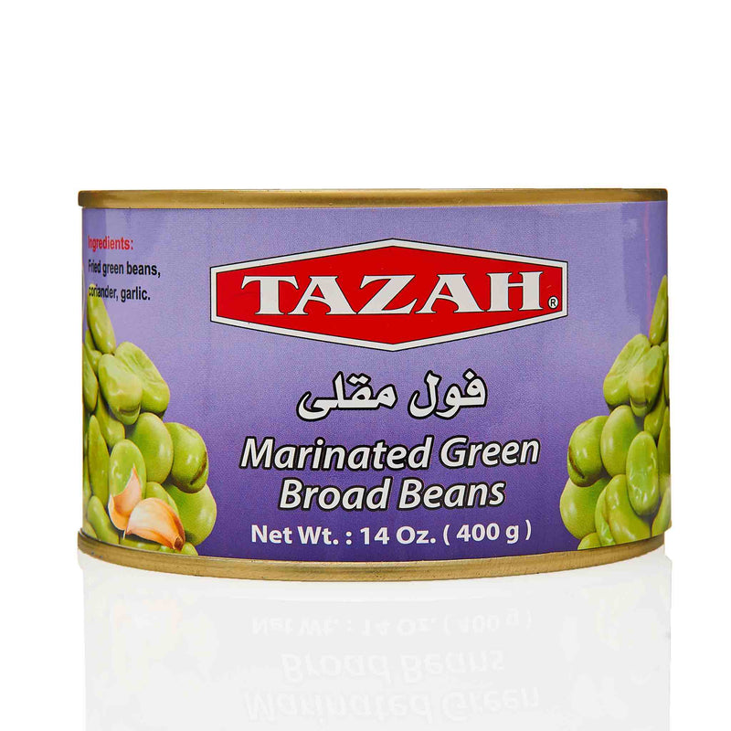 Tazah Marinated Green Broad Beans - Front
