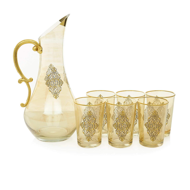 Gilded Gold Filigree Water Serving Set - Front