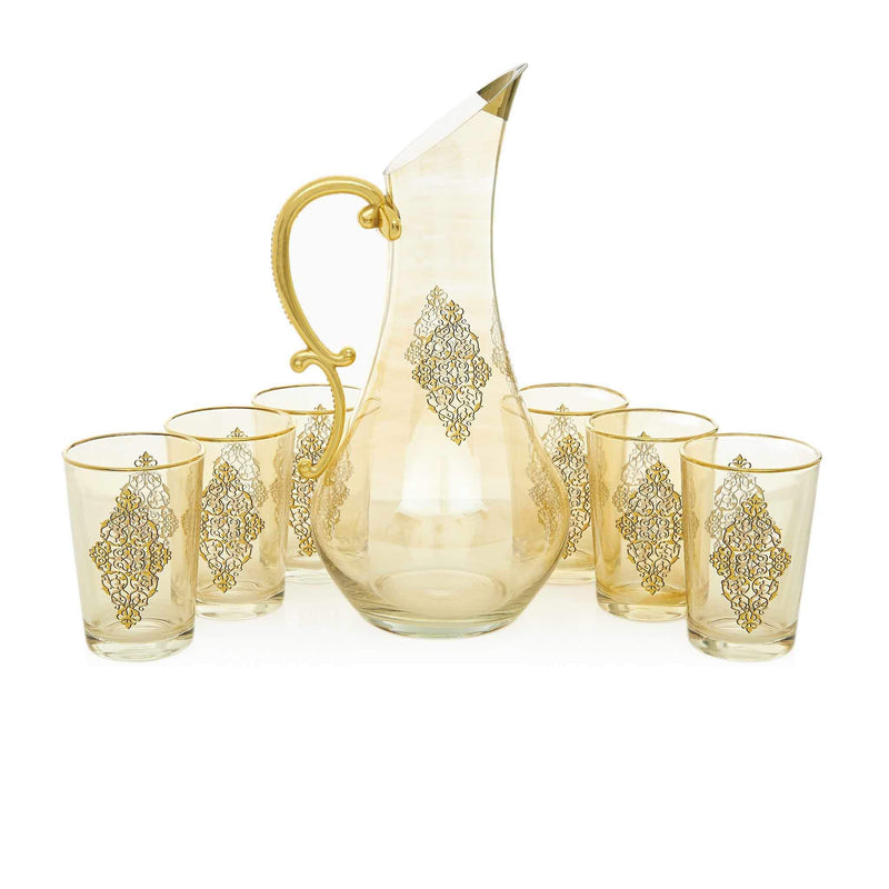 Gilded Gold Filigree Water Serving Set - Front 2
