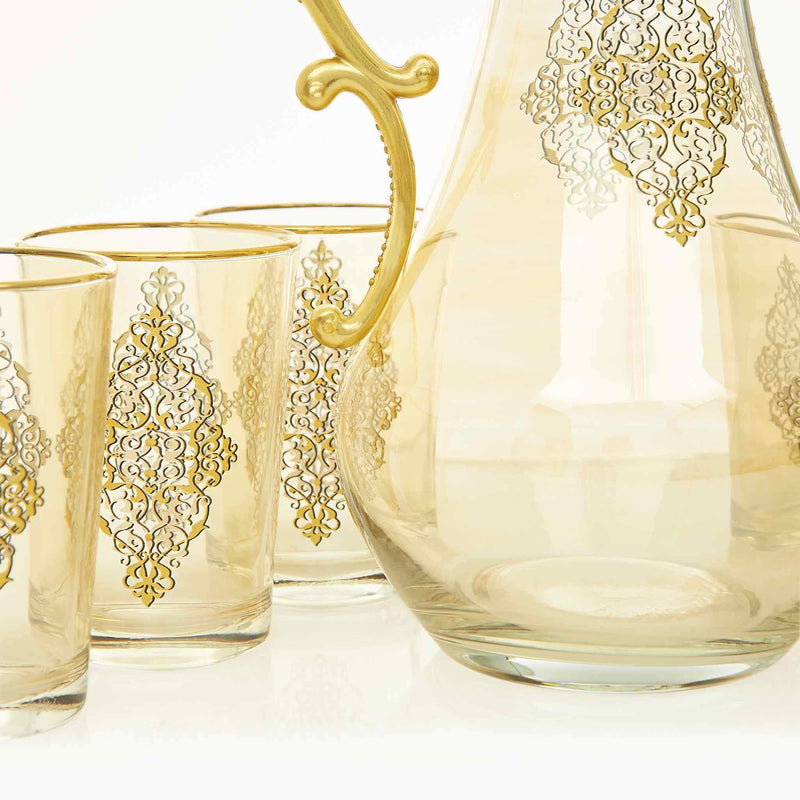 Gilded Gold Filigree Water Serving Set - Jug