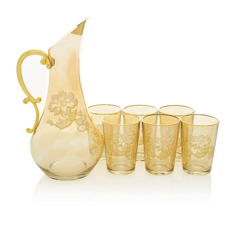 Gilded Gold Jacobean Water Serving Set - Front