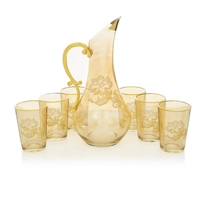 Gilded Gold Jacobean Water Serving Set - Front 2