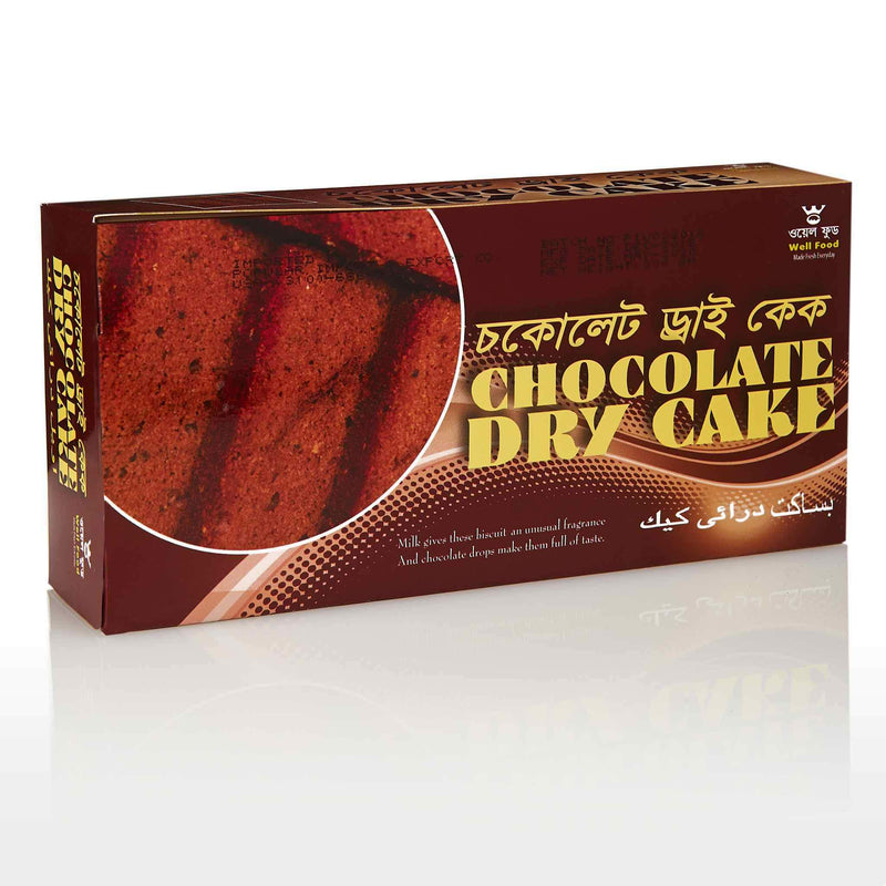 WellFood Chocolate Dry Cake Milk Rusk - Front
