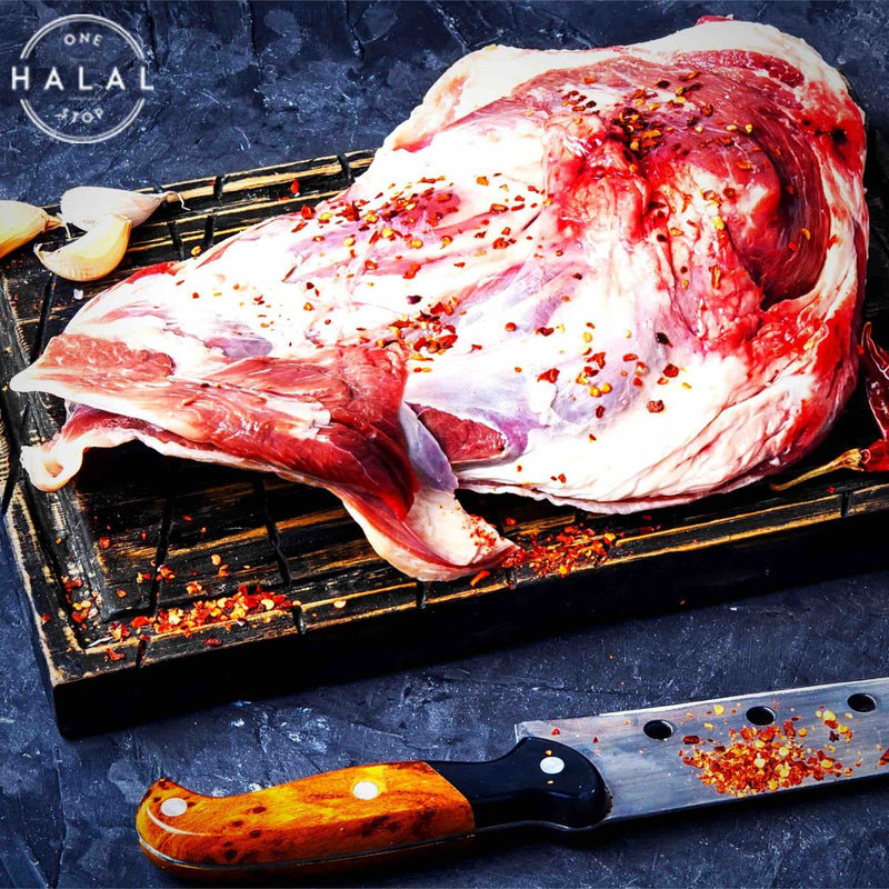 zabiha halal lamb shoulder whole