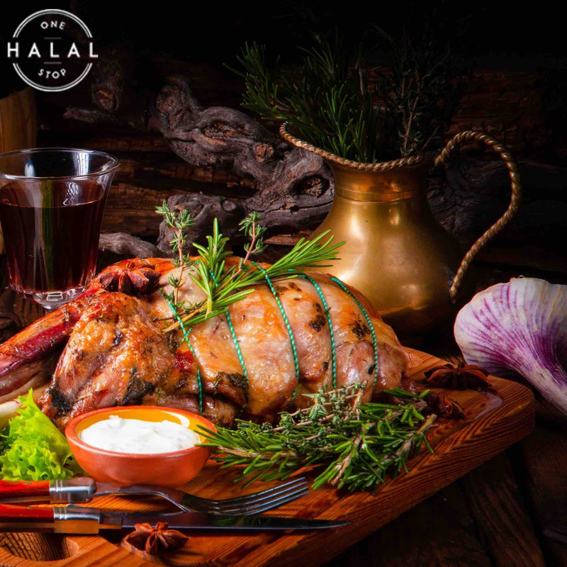 zabiha halal lamb shoulder whole cooked