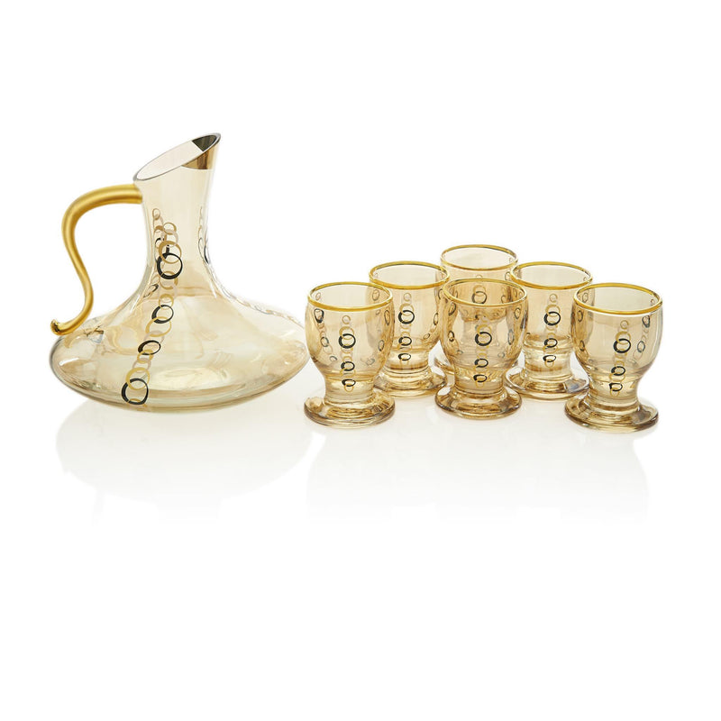Black and Golden Ring Zamzam Set - Front