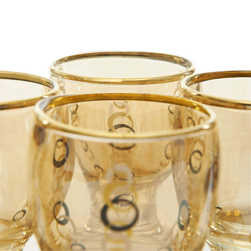 Black and Golden Ring Zamzam Set - Glass Detail 2