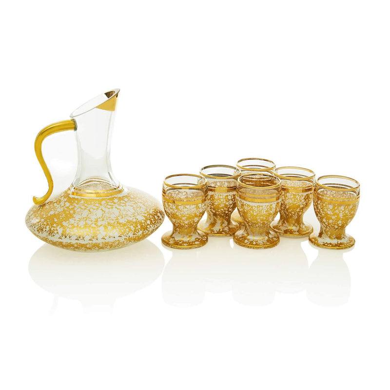 Vintage White and Golden Zamzam Set - Front