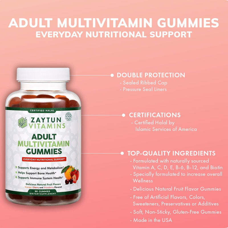 Zaytun Vitamins Adult Multivitamin Gummies - 3