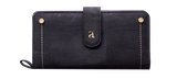 Kim Clutch Wallet - Black and Maroon  Arture- The Woman Everyday