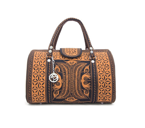 Mini Weekender Bag by Banda Bags. Luxury design, ethically made in Sumatra, Indonesia. Cruelty-free. Bohemian Style.